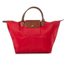 e261bf8b6d09 NEW LONGCHAMP Le Pliage Type M medium Short Handle Travel Tote GARANCE RED   115