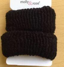 A 2 Pack Of Black Donut Hair Scrunchie/Bobble