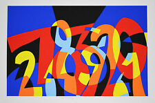 Serigrafia di Ugo Nespolo - I NUMERI SI AMANO - cm 66x97,5 - Editore Tri Art