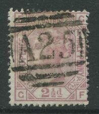 GB Used Abroad 1876 2 1/2d Plate 14 GF struck by a Malta numeral A25