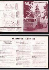 N°3140 /  LATIL : dépliant tracteur routier 4 et 6 cylindres diesel 1954