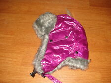 * Isotoner Womens Ladies Pink Trapper Faux Fur Trim Warm Winter Hat Ear Cover