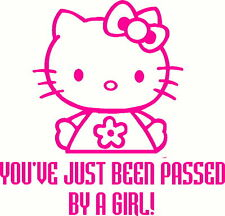 Hello Kitty You've just been passed by a Girl sticker