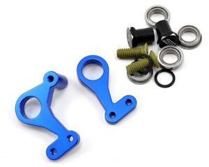 JConcepts RC10 Classic Aluminum Steering Bell Crank Set (Blue) [JCO2309-1]