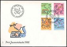 Svizzera 1988 sullo sviluppo dei bambini, Pro juvenetute FDC primo giorno Coperchio #C 20123