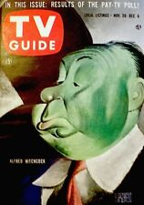 TV Guide 1957 Alfred Hitchcock #244 Albert Hirschfeld Lucille Ball Zorro NM COA