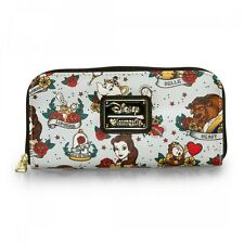 Loungefly x Beauty & The Beast Tattoo Flash Punk Rock Womens Wallet WDWA0491