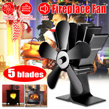 Heat Powered Wood Stove Fan 5 Blades Wood Log Burner Fireplace  Eco Friendly Fan