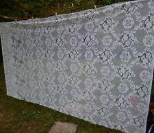 "A Pretty Vintage White French Curtain Piece Floral 63 x 111"" 160 x 282 cm"