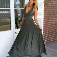 Women Long Maxi Dress Convertible Multiway Bandage Wedding Cocktail Party Gown