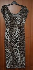 Women Bodycon Dress Wriggle-in Petite Midi Leopards Print Dress Pencil Dress