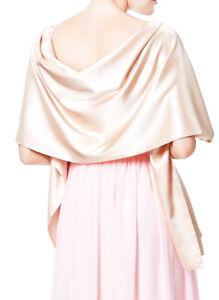 Stola Satin Tuch für Brautkleider Hochzeitskleider festlicher Satin creme + weiß
