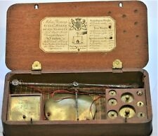A MAHOGANY CASED COIN SCALE BALANCE by JOHN YOUNG  1801 - 1810 , FUNCTIONING