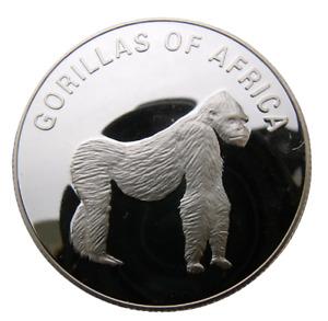 UGANDA 1000 SHILLINGS 2003 ANIMAL GORILLA ON ALL FOURS - BIG HEAVY PROOF COIN