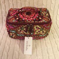 Vera Bradley Travel Cosmetic Bag Resort Medallion Zip Around Handle MSRP $44