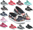 New Women Canvas Loafers Shoes Flats Oxford Fashion Casual Slip On Sneakers
