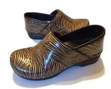 Dansko XP Womens Clogs Brown Slip Resistant Graphic Womens Size 41 US 10.5 - 11