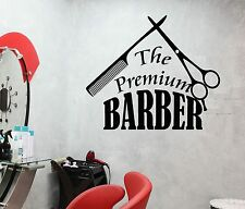 Vinyl Wall Decal Premium Barber Shop Tools Hair Salon Beauty Stickers (460ig)