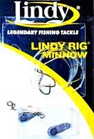 Deadly Lindy Live Bait Minnow, Crawler & Leech Walking Sinker Rig Walleye -LR001