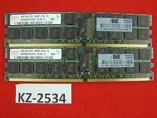 4gb 2x2gb Hynix ddr2-667 pc2-5300p ECC Server-RAM hmp525p7ffp4c-y5 AB-C #kz-2534