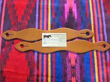Rose Lodge SLOBBER STRAPS Light Oil London Tan Leather 4 Mecate Reins USA