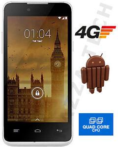 Kazam Trooper 445L 4G LTE Silver Android 4.4 IPS SmartPhone SimFree Unlocked NEW