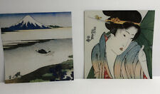 """10 Sheets Japanese Origami Paper Floating World Prints Large 8.25"""" Double Sided"""