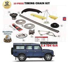 pour Land Rover Defender 2.4 TD4 122BHP 244DT 2007- > Kit chaîne distribution