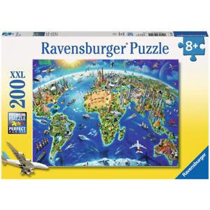 Ravensburger World Landmarks Map XXL 200 Piece Jigsaw Puzzle 12722 Ages 8+
