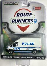 GREENLIGHT 53030 A 2015 FORD TRANSIT LWB VAN WHITE NYPD NYC POLICE DIECAST 1:64