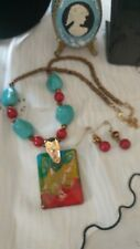 Necklace And Earing Set Lovely Iralian Murano Glass