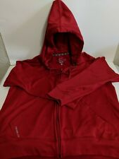 NIKE THERMA FIT LONG SLEEVE RED HOODIE MENS LARGE EXCELLENT CONDITION