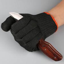 1pc Black Fishing Fillet Gloves Cut Resistant Fillet Knife Glove Thread Weave