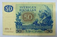 1970 Bank of Sweden 50 Kronor  BK26 UNC