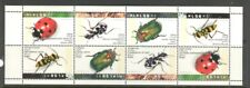 INSECTS ON ISRAEL 1994 Scott 1192a PANE OF 2 SETS, NOT FOLDED, MNH