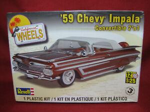 1959 Chevy Impala Convertible California Wheels '59 Revell 1:25 Model Kit 4944