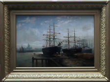 MAX SINCLAIR 1864-1910 BRITISH VICTORIAN LIVERPOOL MARINE OIL PAINTING ART
