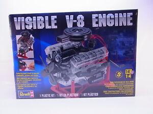65413 Revell 85-8883 V-8 Motor durchsichtig Engine Bausatz 1:4 NEU in OVP