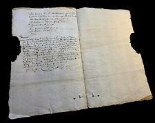 ANTIQUE MANUSCRIPT 1645