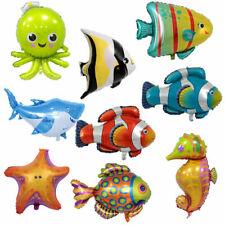 Fish Balloons Foil Deep Sea Animals Birthday Party Supplies Shark Fish Helium UK