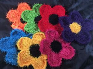 Handmade crochet scrubbie dish sponge non-scratch kitchen washcloth scouring pad
