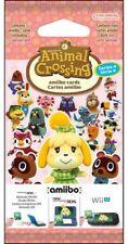 Carte Animal Crossing New Leaf amiibo - Card Pack - WiiU Nintendo 3DS