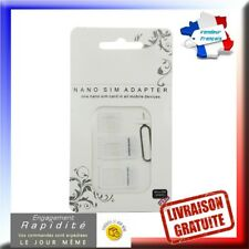 Kit Adaptateur carte sim Nano, Micro Sim pour Iphone, Samsung