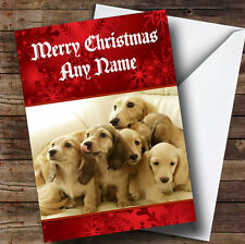 Dachshund Dogs Personalised Christmas Greetings Card