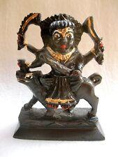 HINDU DEITY Kal Bhairav Black Marble Stone Statue-Lord Kaal Bhairava 10 CM Idol