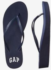 BNEW GAP Logo Womens Wedge  Sandals / Slippers / Flip flop - Size 8 Navy