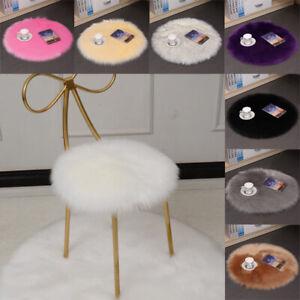 35CM Soft Fluffy Chair Cover Seat Cushion Pad Mat Plush Fur Area Rug Carpet