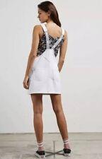 2018 NWT WOMENS VOLCOM POP LOCKIN SKIRTALL $60 S white overall denim dress
