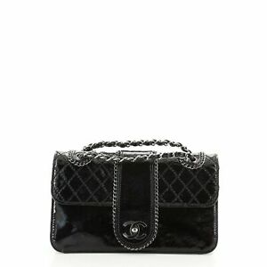 Chanel Madison Flap Bag Quilted Patent Medium