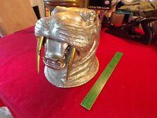 Arthur Court Vtg Modern Aluminum Brass Walrus Animal Ice Bucket Wine Chiller Box